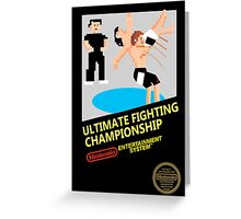 UFC in 8-bit  Greeting Card