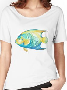 Queen Angelfish in Watercolor Women's Relaxed Fit T-Shirt