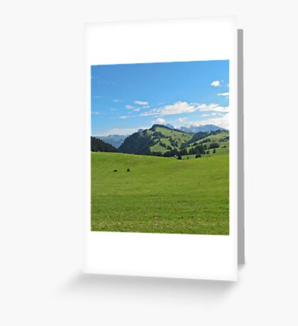 Green mountains (Italy) Greeting Card