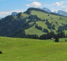 Green mountains (Italy) Sticker