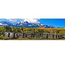 Autumn Corral Photographic Print