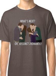 Sheldon & Amy - 'Kissing's romantic!' Classic T-Shirt
