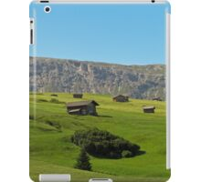 Houses in green valley in the mountains (Italy) iPad Case/Skin