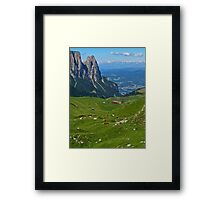 View from the top of a mountain Framed Print