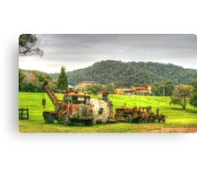 Rusty Trusty With His Mates In The Paddock Canvas Print