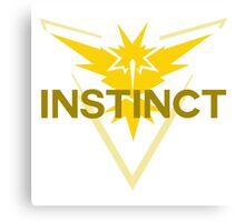Pokemon Go: Team Instinct Simple Canvas Print