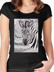 Zebra for Hope Women's Fitted Scoop T-Shirt