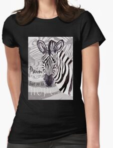 Zebra for Hope Womens Fitted T-Shirt