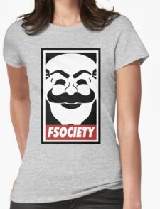 Fsociety Womens Fitted T-Shirt