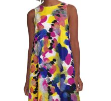 Watermelon Abstract A-Line Dress