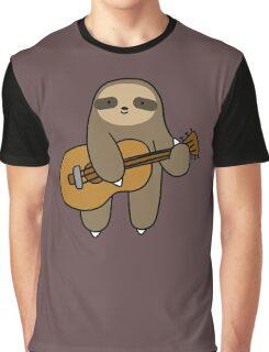 Guitar Sloth Graphic T-Shirt