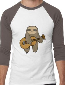 Guitar Sloth Men's Baseball ¾ T-Shirt