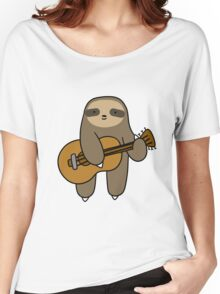 Guitar Sloth Women's Relaxed Fit T-Shirt
