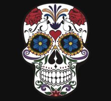 Colorful Sugar Skull One Piece - Short Sleeve