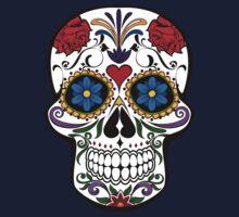 Colorful Sugar Skull One Piece - Short Sleeve