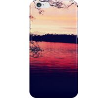 Sunset over lake iPhone Case/Skin