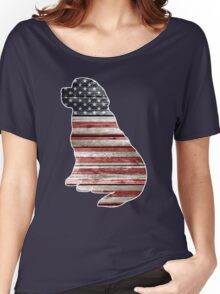 Patriotic Newfoundland Women's Relaxed Fit T-Shirt