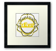 rEvo jaws white Framed Print