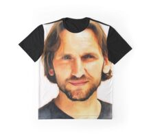 Christopher Eccleston Portrait Graphic T-Shirt