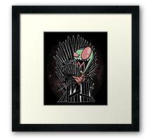 Throne Invader Framed Print