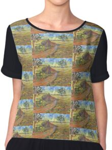Old Miner's Cottage Women's Chiffon Top