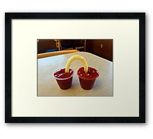 So THAT'S Why They Call It The GOLDEN ARCHES!!!! Framed Print