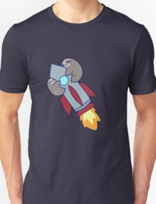 Rocket Ship Sloths Unisex T-Shirt