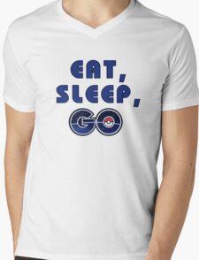 Eat, sleep, go. Mens V-Neck T-Shirt