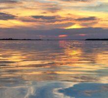 Sunset Sky Reflection  Sticker
