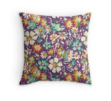 Rustic,retro,floral,pattern Throw Pillow