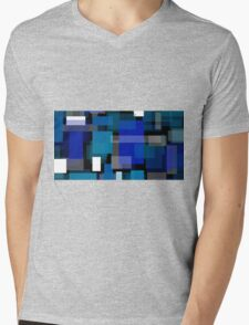 Geometric abstract Mens V-Neck T-Shirt