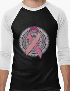 Breast Cancer  Ribbon  Men's Baseball ¾ T-Shirt