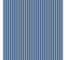 Solid Riverside Blue & Thin White Pinstripe Photographic Print