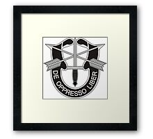 Special Forces - insignia (United States Army) Framed Print