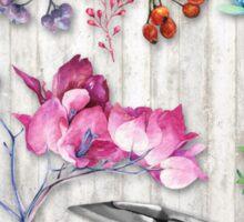 Botanica II Botanical nature study flower, leaf seeds Sticker