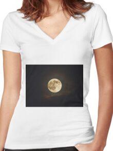 Matrix Moon Women's Fitted V-Neck T-Shirt