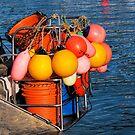 Colourful Fishing Gear - Lyme Regis Harbour by Susie Peek