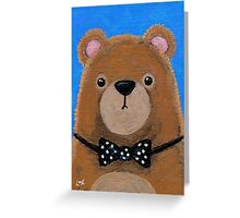 Brown Bear in a Bow Tie Greeting Card