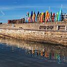 Colourful Kayaks - Lyme Regis by Susie Peek