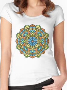 Mandala - Circle Ethnic Ornament Women's Fitted Scoop T-Shirt