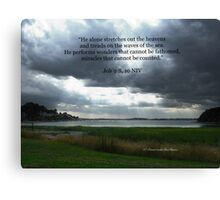 Job 9:8,10 Canvas Print