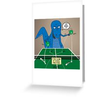 T-Rex Ping Pong Greeting Card