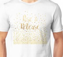 Rise and Release - Gold on Smoky Navy Unisex T-Shirt