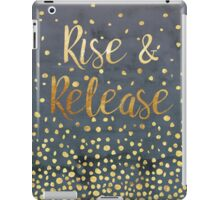 Rise and Release - Gold on Smoky Navy iPad Case/Skin