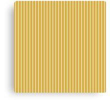 Solid Spicy Mustard & Thin White Pinstripe Canvas Print