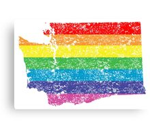 washington rainbow Canvas Print