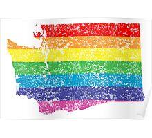 washington rainbow Poster