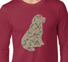 Christmas Holly Newfoundland Long Sleeve T-Shirt