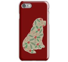 Christmas Holly Newfoundland iPhone Case/Skin