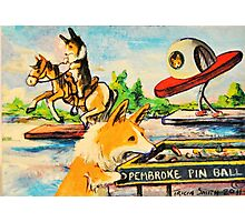 Welsh Pembroke Corgi~Cardigan~Dog~Penny Arcade~Manitou Springs~Colorado Photographic Print
